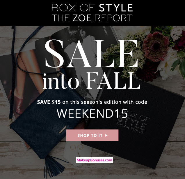 Box of Style Sale - MakeupBonuses.com