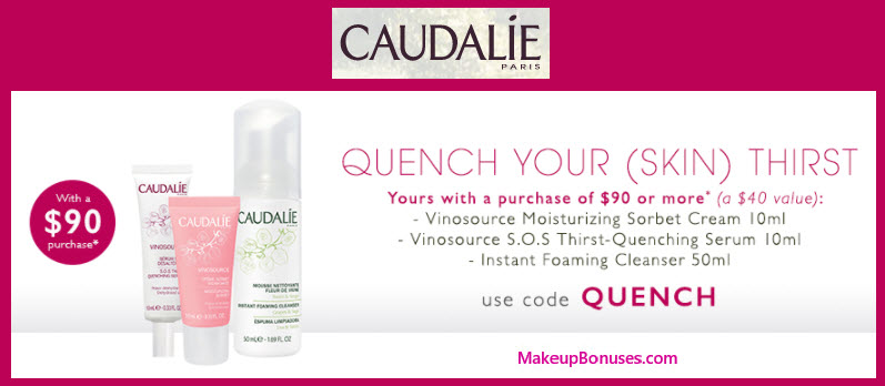 Receive a free 3-pc gift with your $90 Caudalie purchase