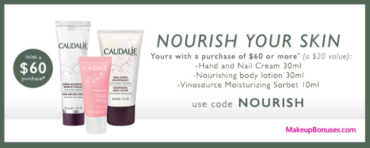 Receive a free 3-pc gift with your $60 Caudalie purchase