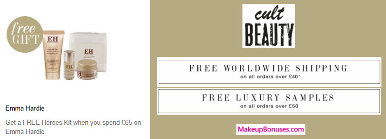 Receive a free 3-pc gift with your ~$86 (65 GBP) purchase