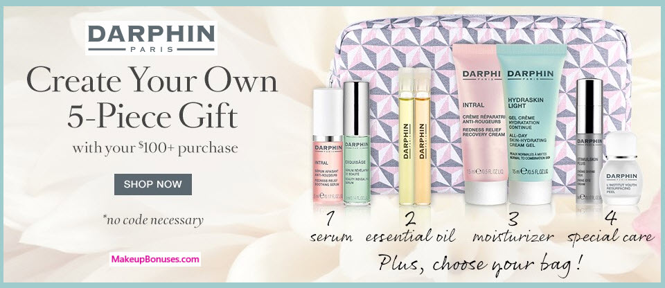 Receive your choice of 5-pc gift with your $100 Darphin purchase