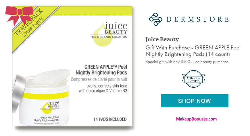 Receive a free 14-pc gift with your $100 Juice Beauty purchase