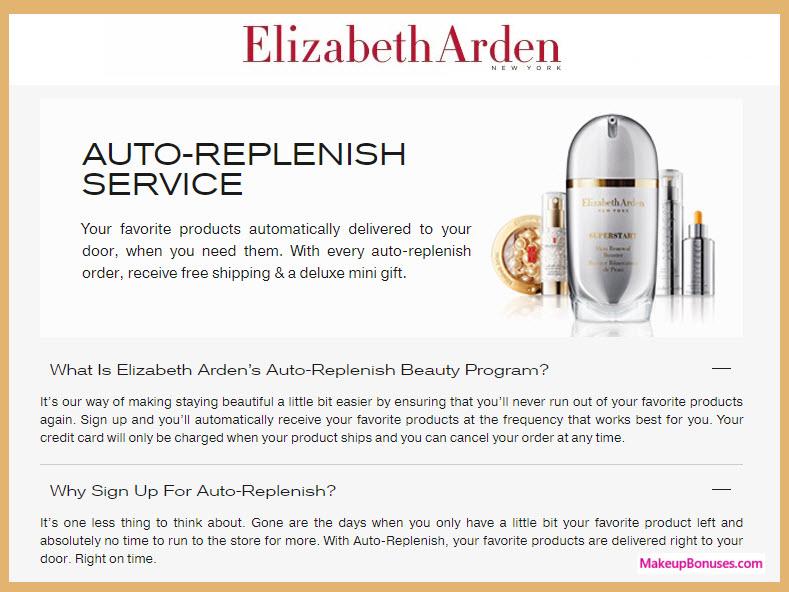 Elizabeth Arden Auto Delivery Service - MakeupBonuses.com