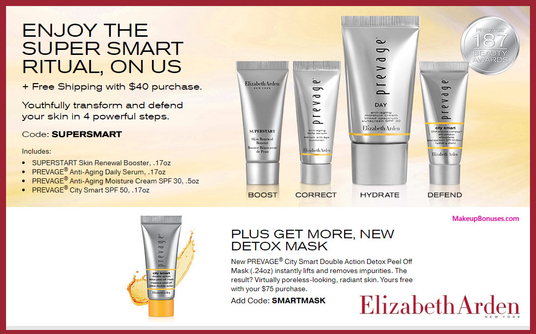Receive a free 4-pc gift with your $40 Elizabeth Arden purchase