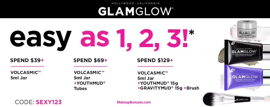 Receive a free 4-pc gift with your $129 GlamGlow purchase