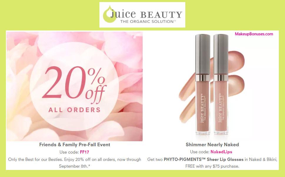 Juice Beauty Sale - MakeupBonuses.com