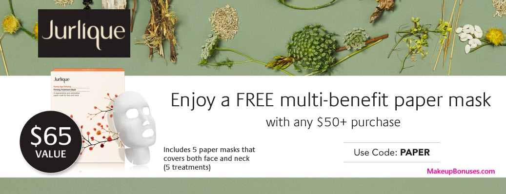 Receive a free 5-pc gift with your $50 Jurlique purchase