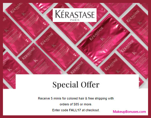Receive a free 5-pc gift with your $85 Kérastase purchase