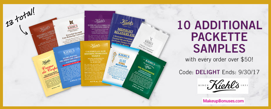 Receive your choice of 13-pc gift with your $50 Kiehl's purchase