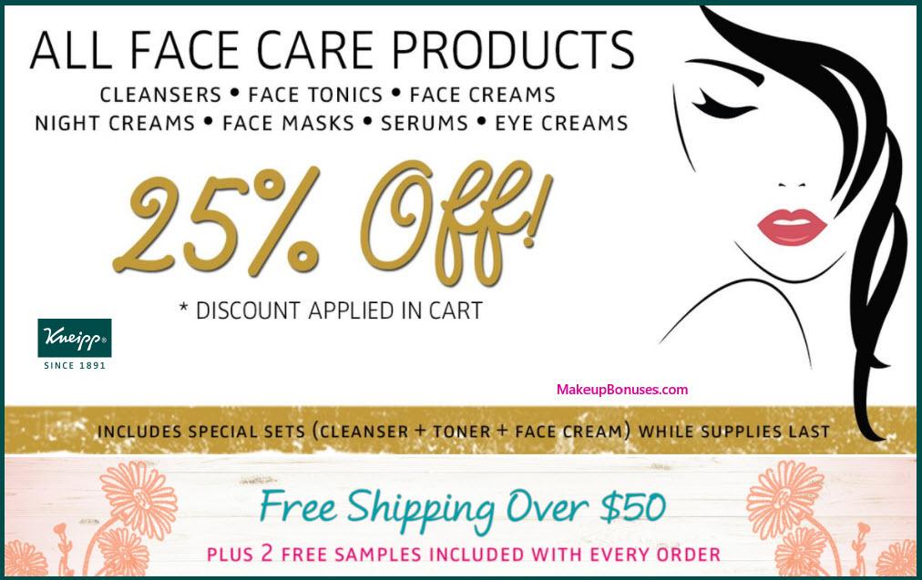 Kneipp Sale - MakeupBonuses.com