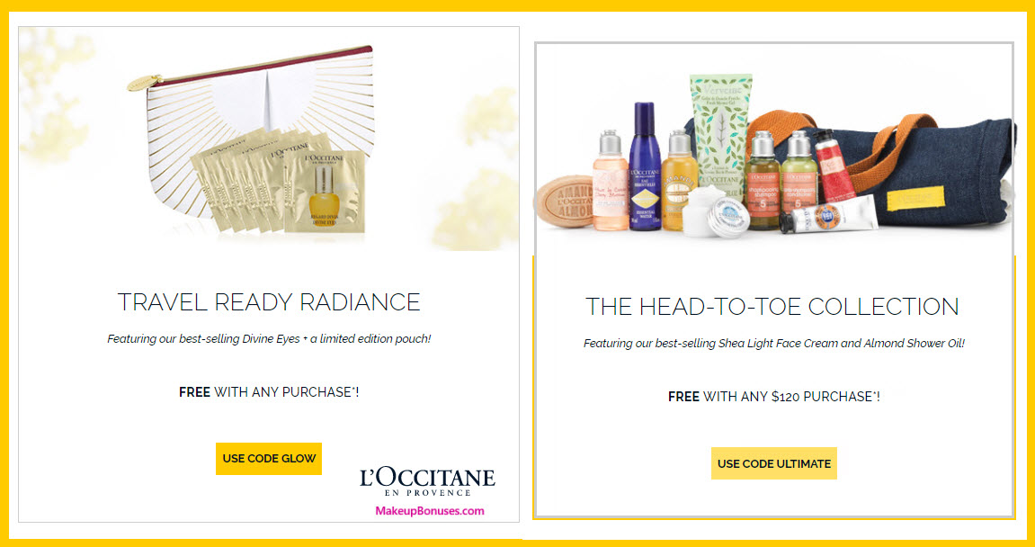 Receive a free 21-pc gift with your $120 L'Occitane purchase