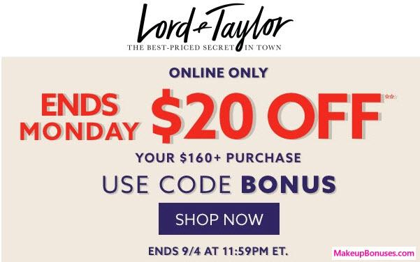 Lord & Taylor Sale - MakeupBonuses.com