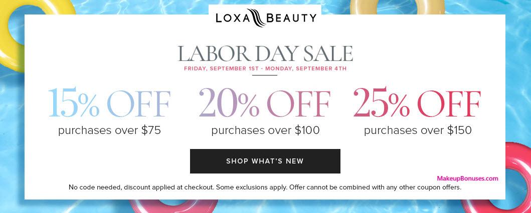 Loxa Beauty Sale - MakeupBonuses.com