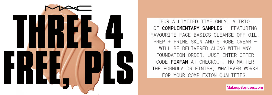 Receive a free 3-pc gift with your Foundation purchase