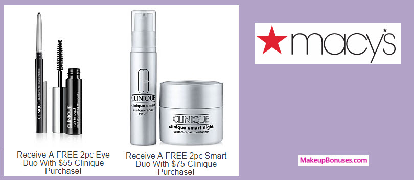 Receive a free 4-pc gift with your $75 Clinique purchase