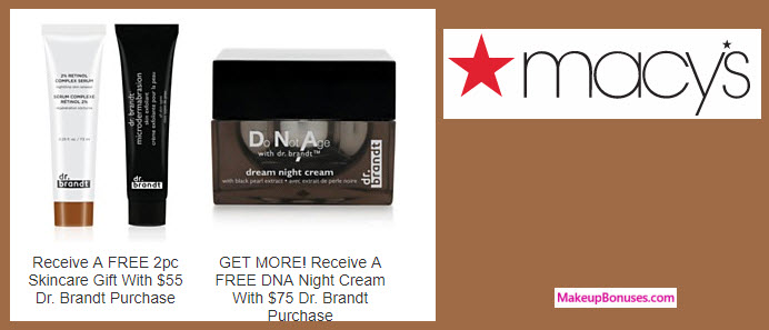 Receive a free 3-pc gift with your $75 Dr Brandt purchase