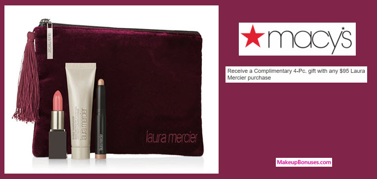 Receive a free 4-pc gift with your $95 Laura Mercier purchase