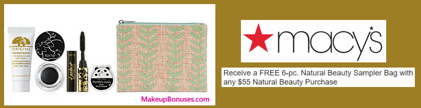 Receive a free 6-pc gift with your $55 Natural Beauty purchase
