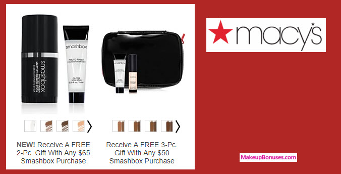 Receive a free 3-pc gift with your $50 Smashbox purchase