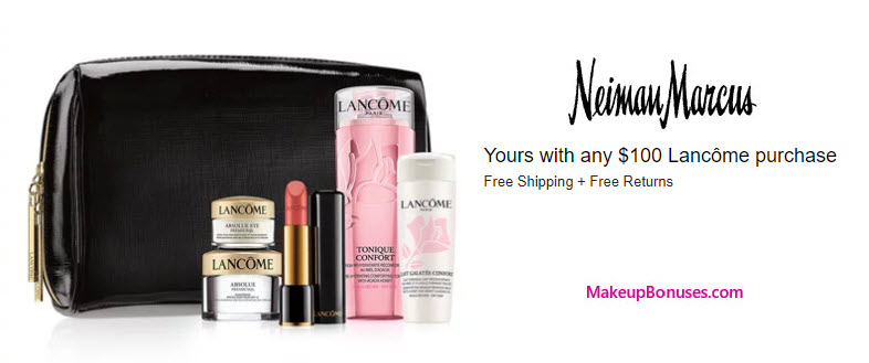 Receive a free 6-pc gift with your $100 Lancôme purchase