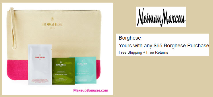 Receive a free 4-pc gift with your $65 Borghese purchase