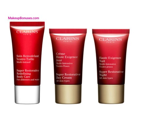 Receive a free 3-pc gift with your $99 Clarins purchase