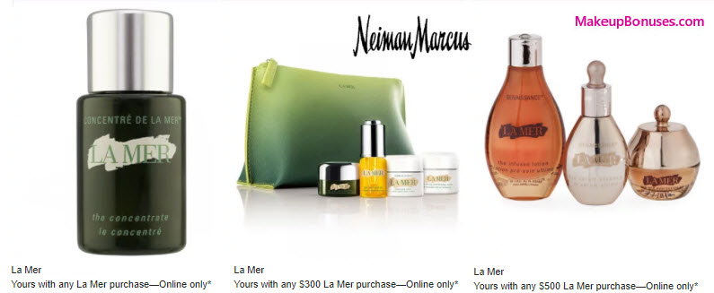Receive a free 5-pc gift with your $300 La Mer purchase