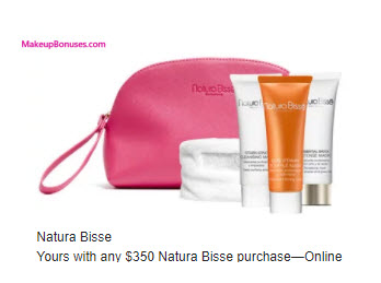 Receive a free 4-pc gift with your $350 Natura Bissé purchase