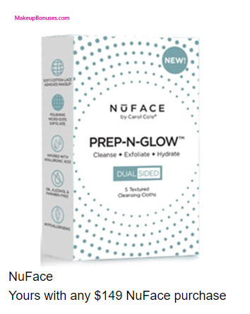Receive a free 5-pc gift with your $149 NuFace purchase