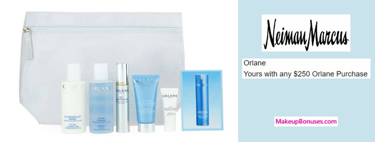 Receive a free 7-pc gift with your $250 Orlane purchase