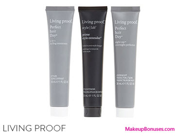 Receive a free 3-pc gift with your $40 Living Proof purchase