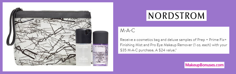 Receive a free 3-pc gift with your $35 MAC Cosmetics purchase