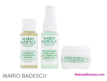 Receive a free 3-pc gift with your $50 Mario Badescu purchase