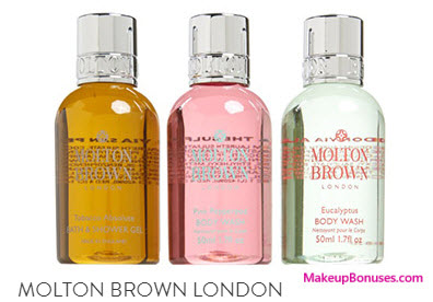 Receive a free 3-pc gift with your $75 Molton Brown purchase