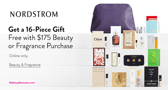 Nordstrom Free 16 Pc Gift With Purchase