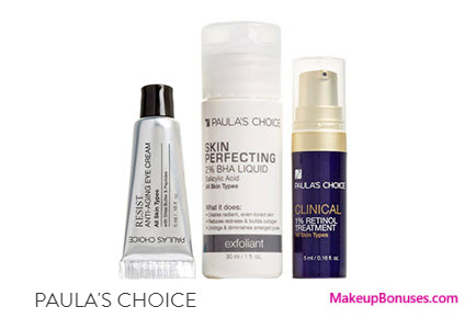 Receive a free 3-pc gift with your $75 PAULA'S CHOICE purchase