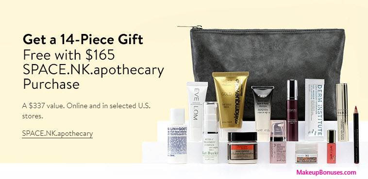 Receive a free 14-pc gift with your $165 Space NK purchase