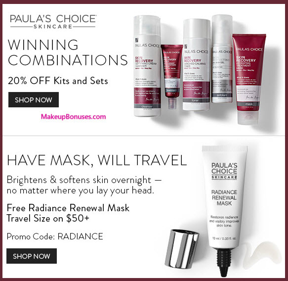 Paula's Choice Sale - MakeupBonuses.com