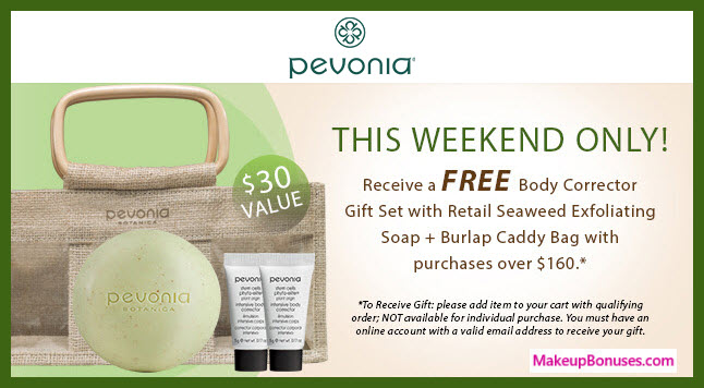 Receive a free 4-pc gift with your $160 Pevonia purchase