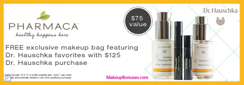 Receive a free 5-pc gift with your $125 Dr Hauschka purchase