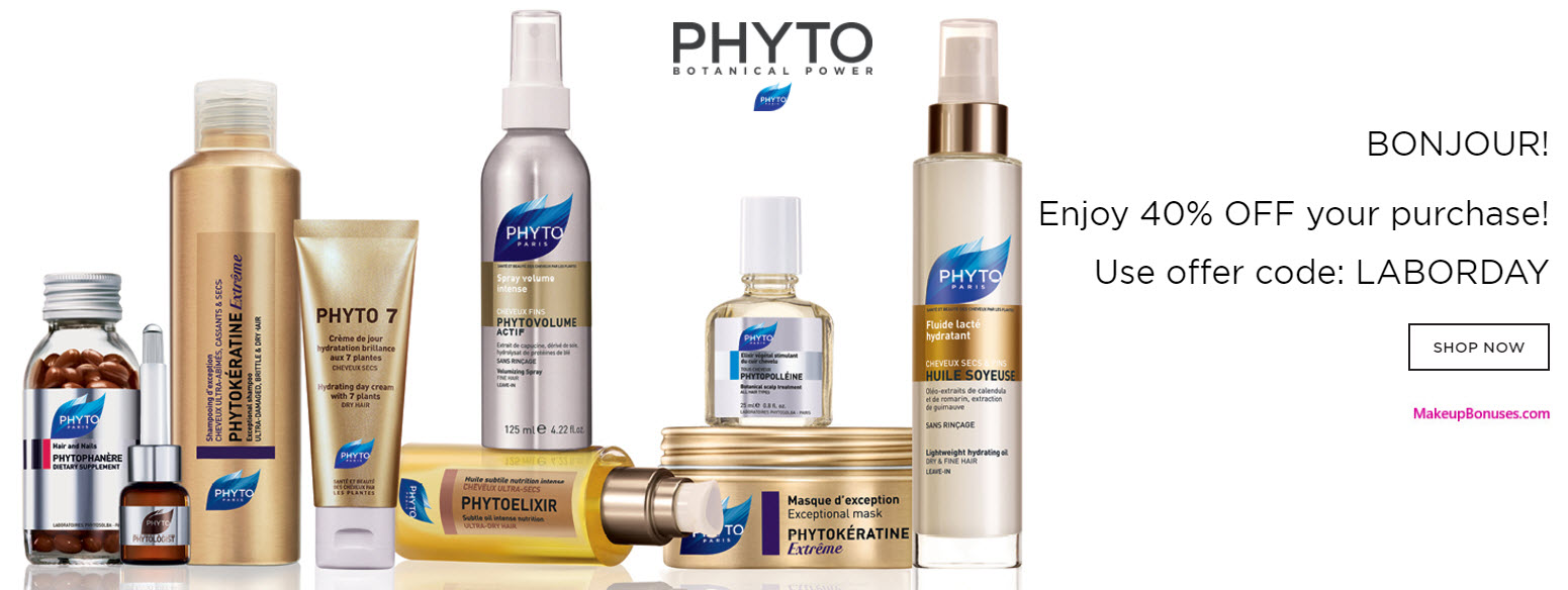 Phyto Sale - MakeupBonuses.com