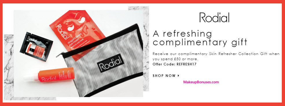 Receive a free 4-pc gift with your ~$66 (50 GBP) purchase