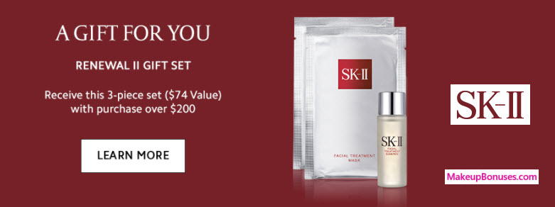 Receive a free 3-pc gift with your $200 SK-II purchase