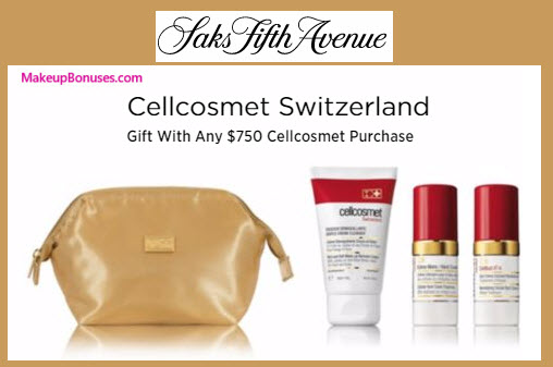 Receive a free 4-pc gift with your $750 Cellcosmet Switzerland purchase