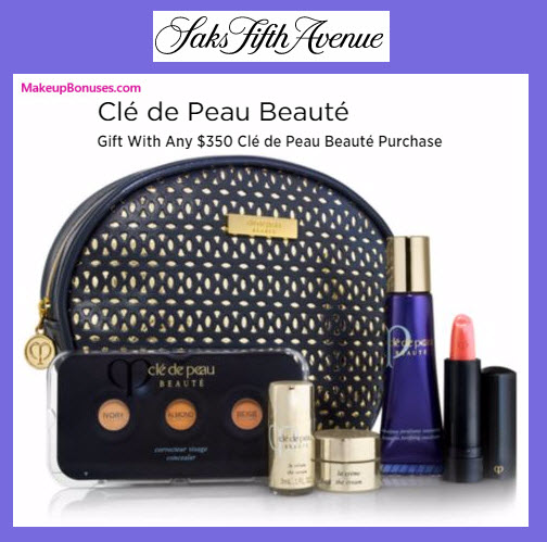 Receive a free 6-pc gift with your $350 Clé de Peau Beauté purchase