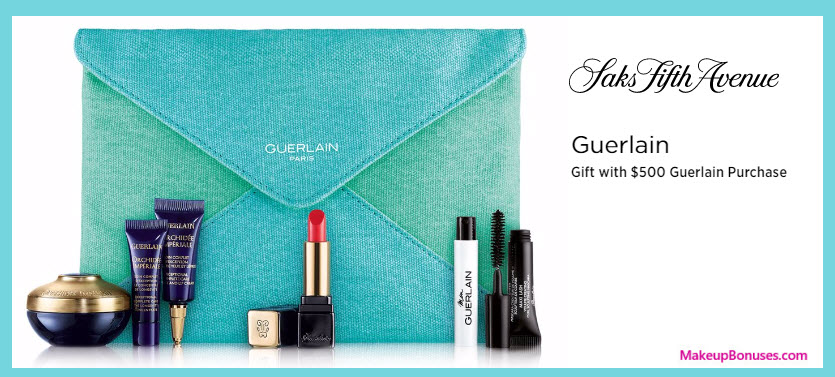 Receive a free 7-pc gift with your $500 Guerlain purchase