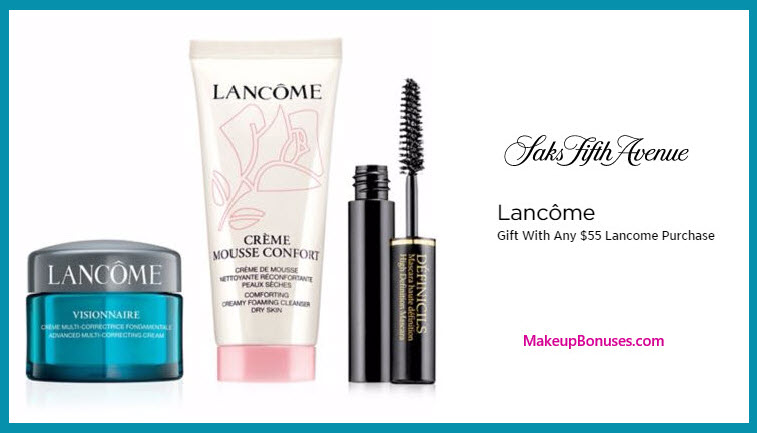Receive a free 3-pc gift with your $55 Lancôme purchase