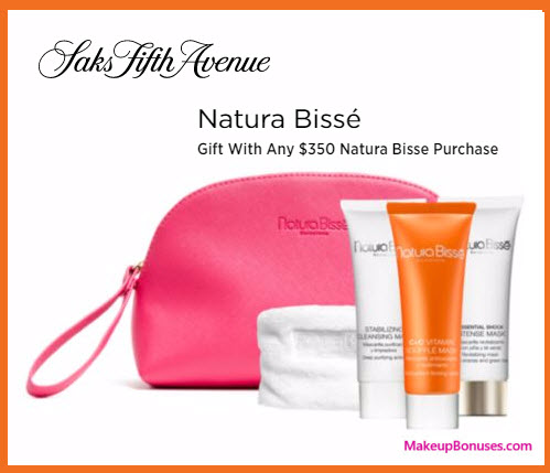 Receive a free 5-pc gift with your $350 Natura Bissé purchase