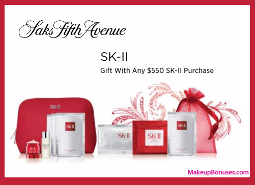 Receive a free 7-pc gift with your $550 SK-II purchase