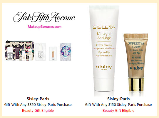 Receive a free 10-pc gift with your $350 Sisley Paris purchase
